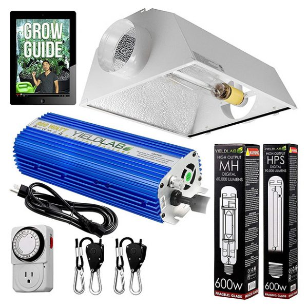 Yield-Lab-600-Watt-HPS-And-MH-Air-Cool-Hood-Kit